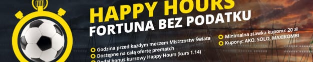 Mundialowe Happy Hours. Fortuna bez podatku